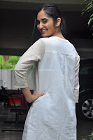 Radhika Cute Young New Actress in White Long Transparent Kurta ~  Exclusive Celebrities Galleries 009.JPG