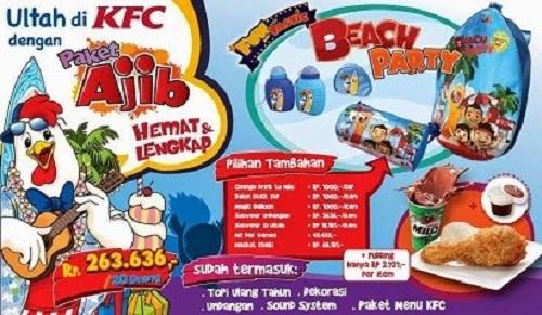 Daftar Harga Menu Ulang Tahun KFC