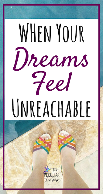 Do you ever feel like your dreams are unreachable and pointless? Don't fall into that trap! Here are three tips to help you keep moving forward when you feel like giving up!