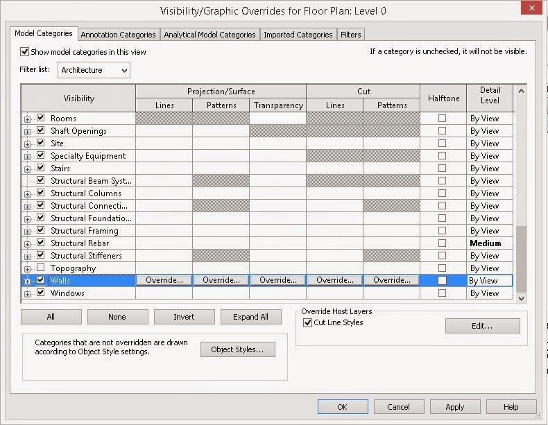 Revit Recess: Wall Layer Cut Style Overrides