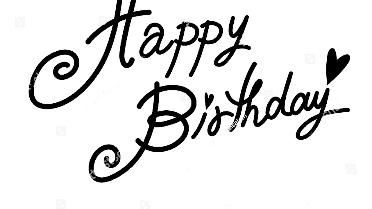 Happy Birthday Calligraphy Font Calligraph Choices