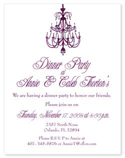 Perfect Dinner Party Invitations