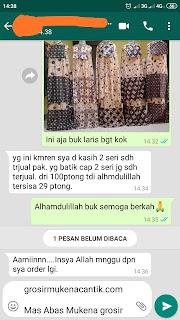 Grosir mukena batik solo