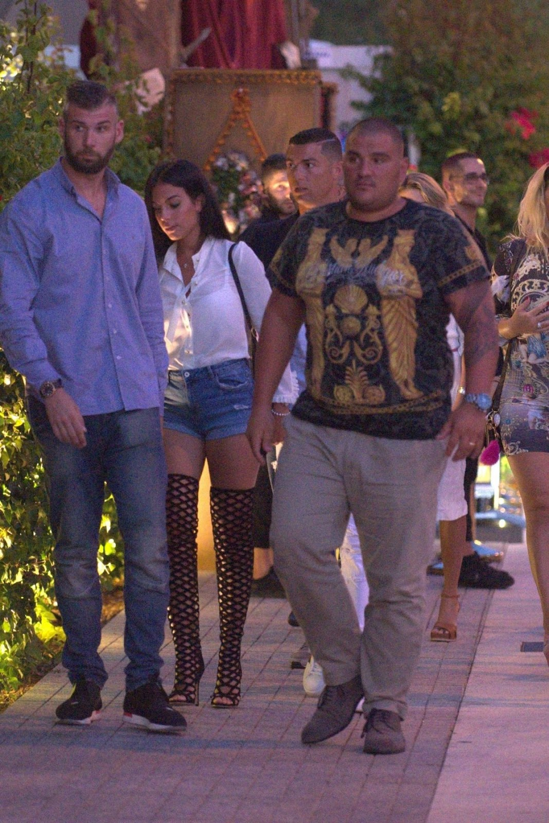 Cristiano Ronaldo Night Out with new girlfriend Georgina Rodriguez in Ibiza