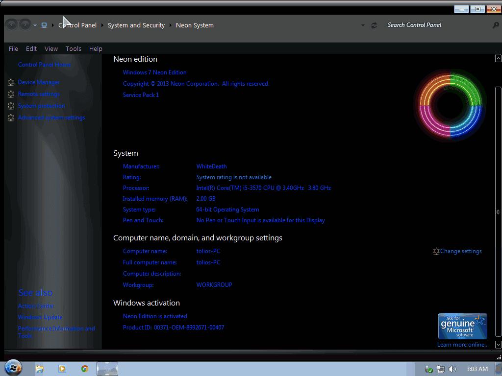 windows 7 sp1 blue alienware edition x64 2013 full version apps