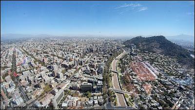 Santiago, Chile, Chili, Gran Torre, Costanera, Cerro San Cristobal