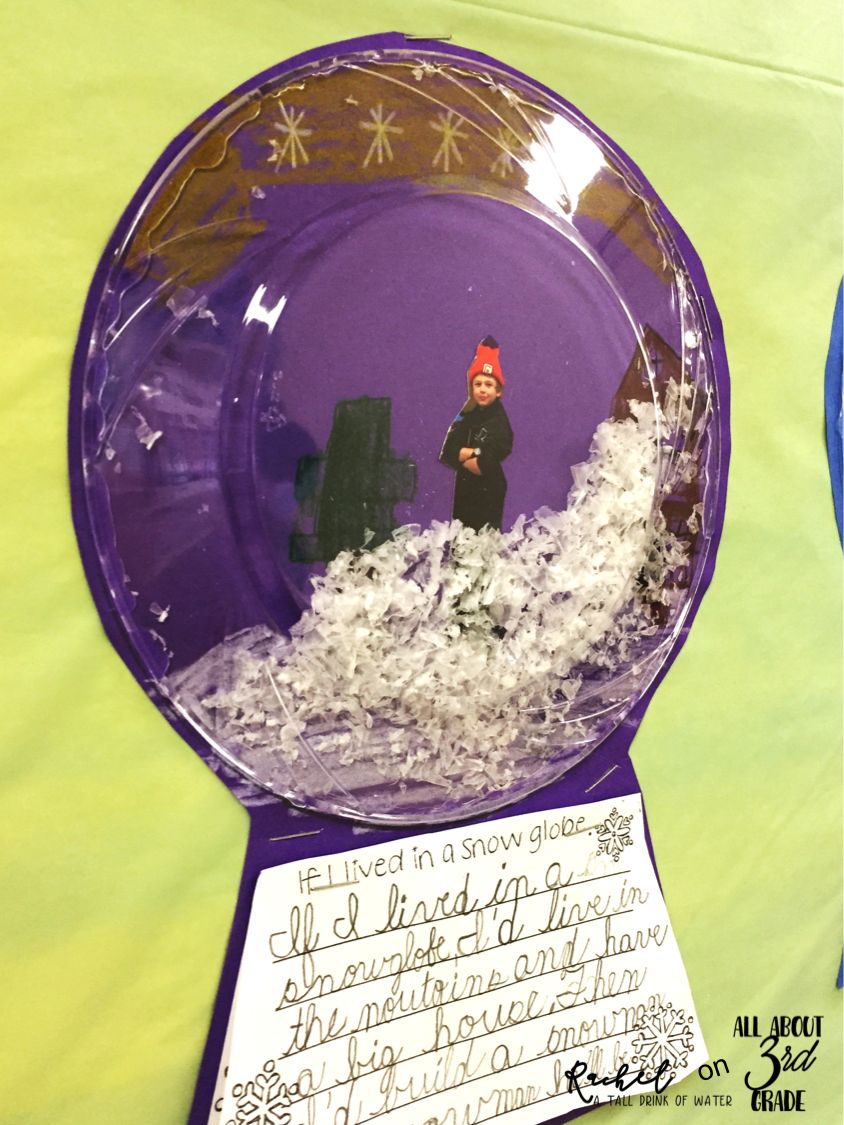Snow Globe Winter Writing Prompt | All About 3rd Grade