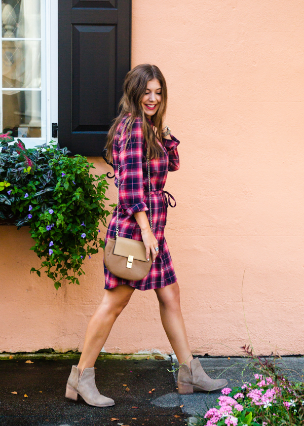 The Perfect Plaid Dress Under $40 | Chasing Cinderella