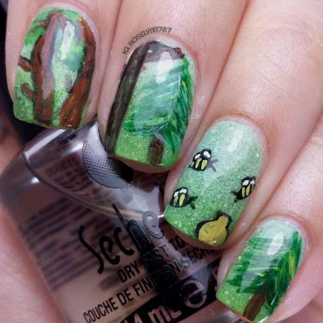 Challenge Your Nail Art: Day 2 The Woods