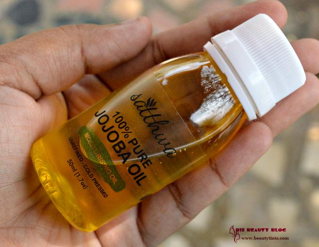 Sriz Beauty Blog: Satthwa 100% Pure Unrefined Cold Pressed Jojoba ...