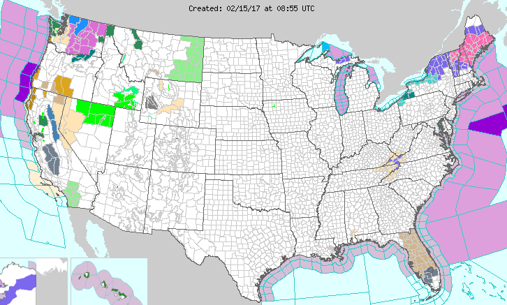 Weather Advisories and Warnings Across the USA