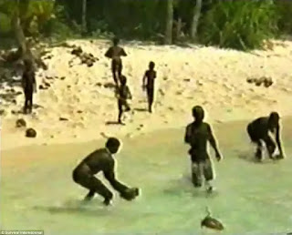 North Sentinel Island of the Indian Ocean where the dreaded primates live