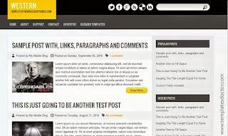 Western Blogger Template