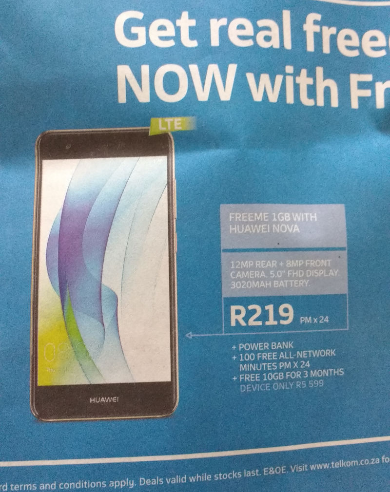 Insights And Rants Telkom S R500 Per Month Ripoff On A R229 Freeme Mobile Contract