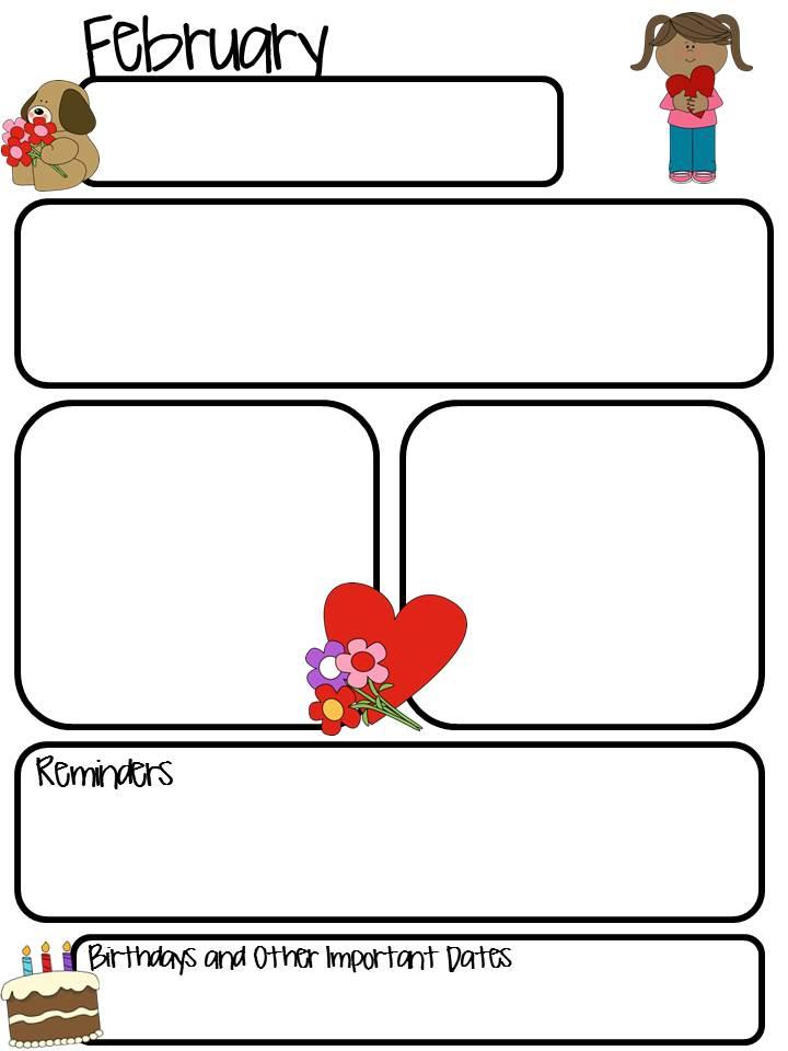 Slide8 November Teacher Newsletter Template on owl theme, for first grade, free preschool,