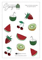 Adesivos Frutas