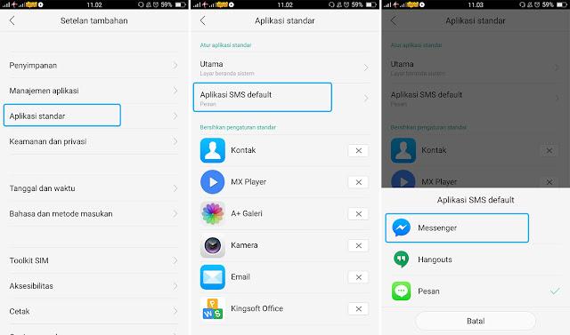 Mengganti SMS Default Android