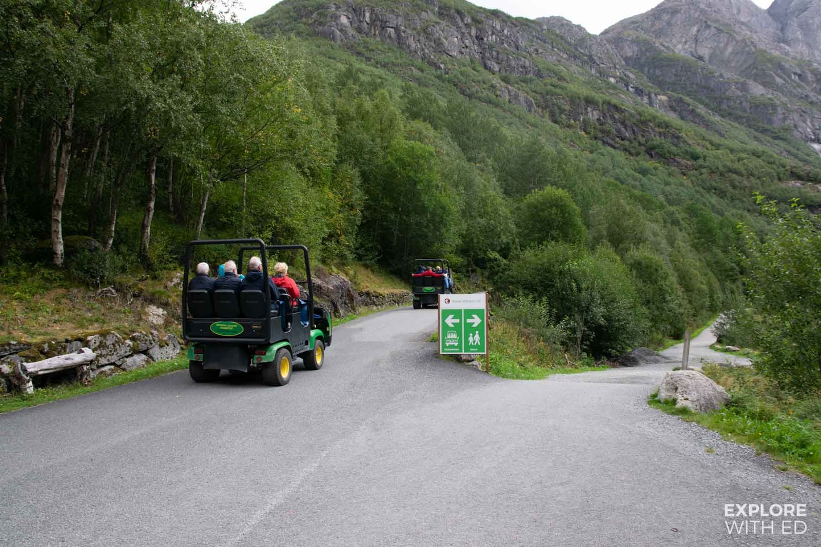 Troll-car to Briksdal Glacier
