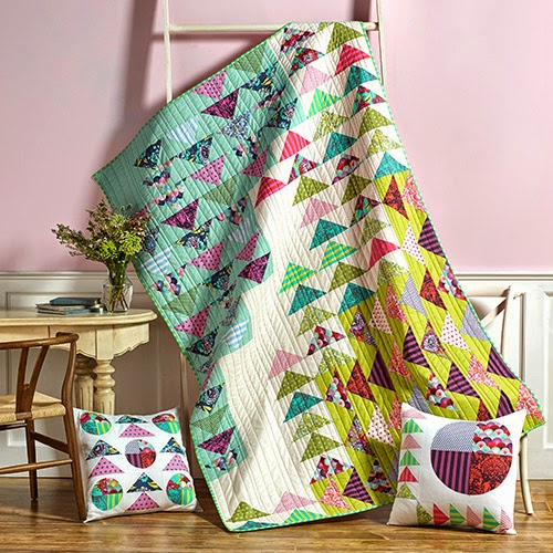 Misdirection Quilt Featuring  Elizabeth Collection by Tula Pink, Designed By Tula Pink of Make it Coats