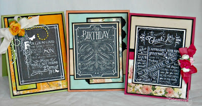Our Daily Bread Designs Stamps Chalkboard - Birthday/Thank You, Chalkboard - John's.  Designer Lisa Somerville