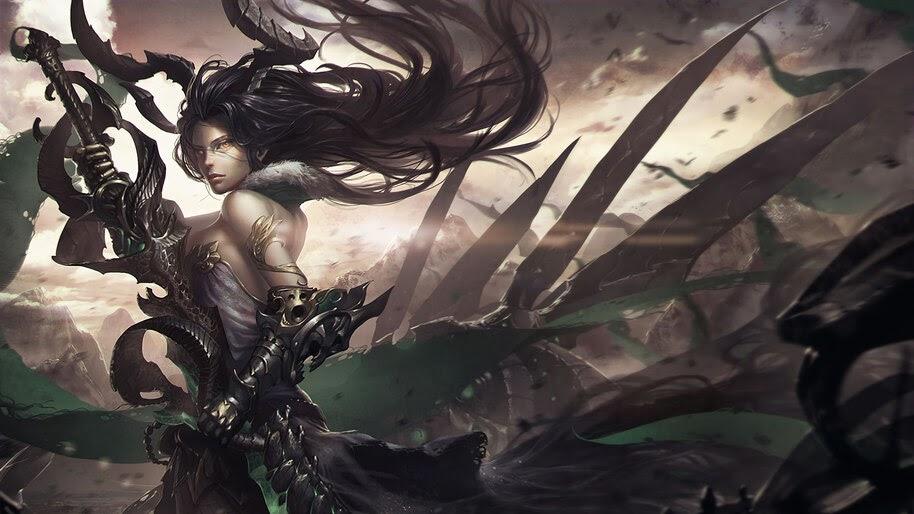 Fantasy, Warrior, Girl, 4K, #4.967