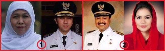 Pasangan calon gubernur - wakil gubernur Jawa timur (Jatim) 2018