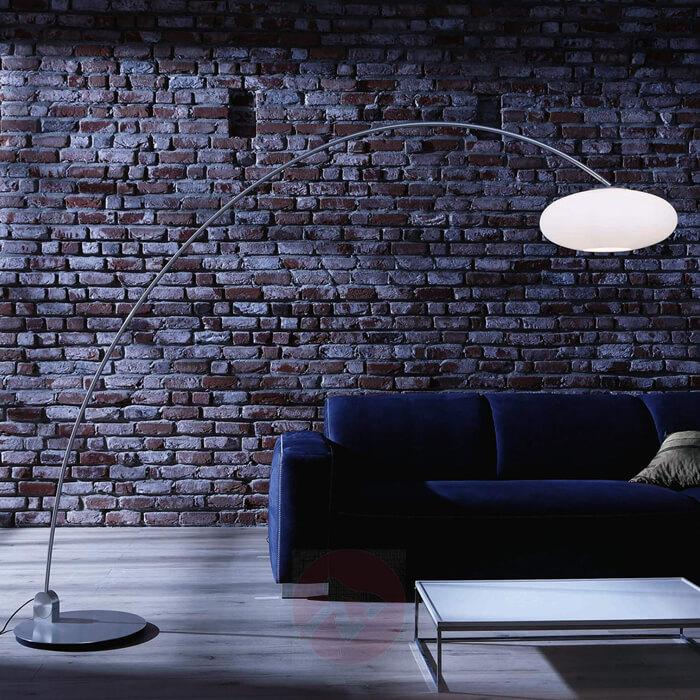 Photo of Arco lamp, design furnishing accessory to illuminate a room