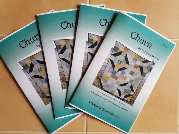 Churn quilt pattern | DevotedQuilter.blogspot.com