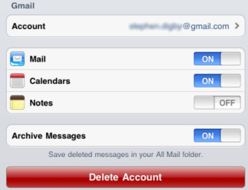 Iphone Ipad Sync To Gmail Contacts