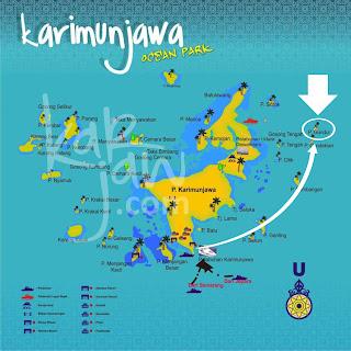 peta pulau gundul karimun jawa