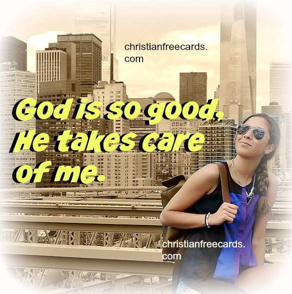 Christian free quotes with nice image,  free inspirational quotes by Mery Bracho. God will take care of you