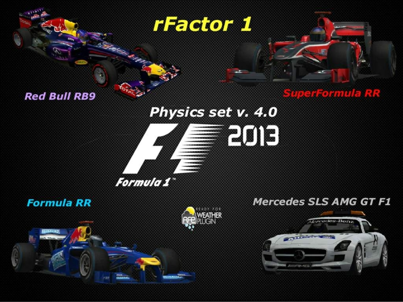 F1 2013 Physics Set 5 50 For rFactor Mods