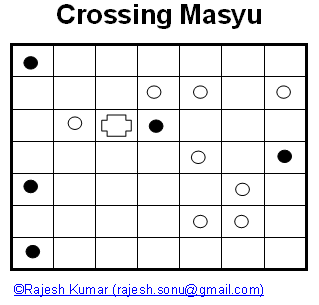 Logical Puzzles: Crossing Masyu