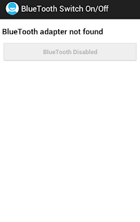 Android Bluetooth Switch on/off programmatically