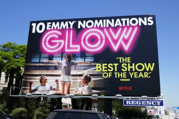 GLOW season 1 Emmy nominee billboard