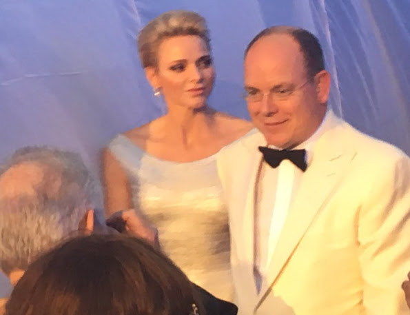 Princess Charlene of Monaco baptizes the cruise ship Seven Seas Explorer