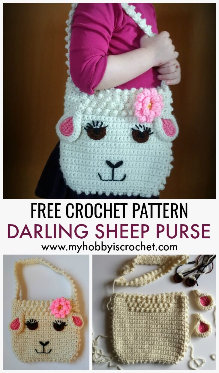 Darling Sheep Purse - Free Crochet Pattern