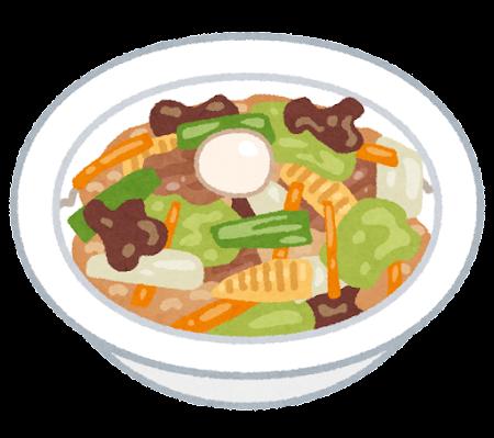 中華丼のイラスト