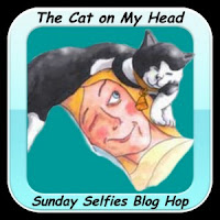 Sunday Selfies blog hop, The Cat on My Head