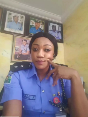 Meet The Most Beautiful Female Police Officer In Anambra