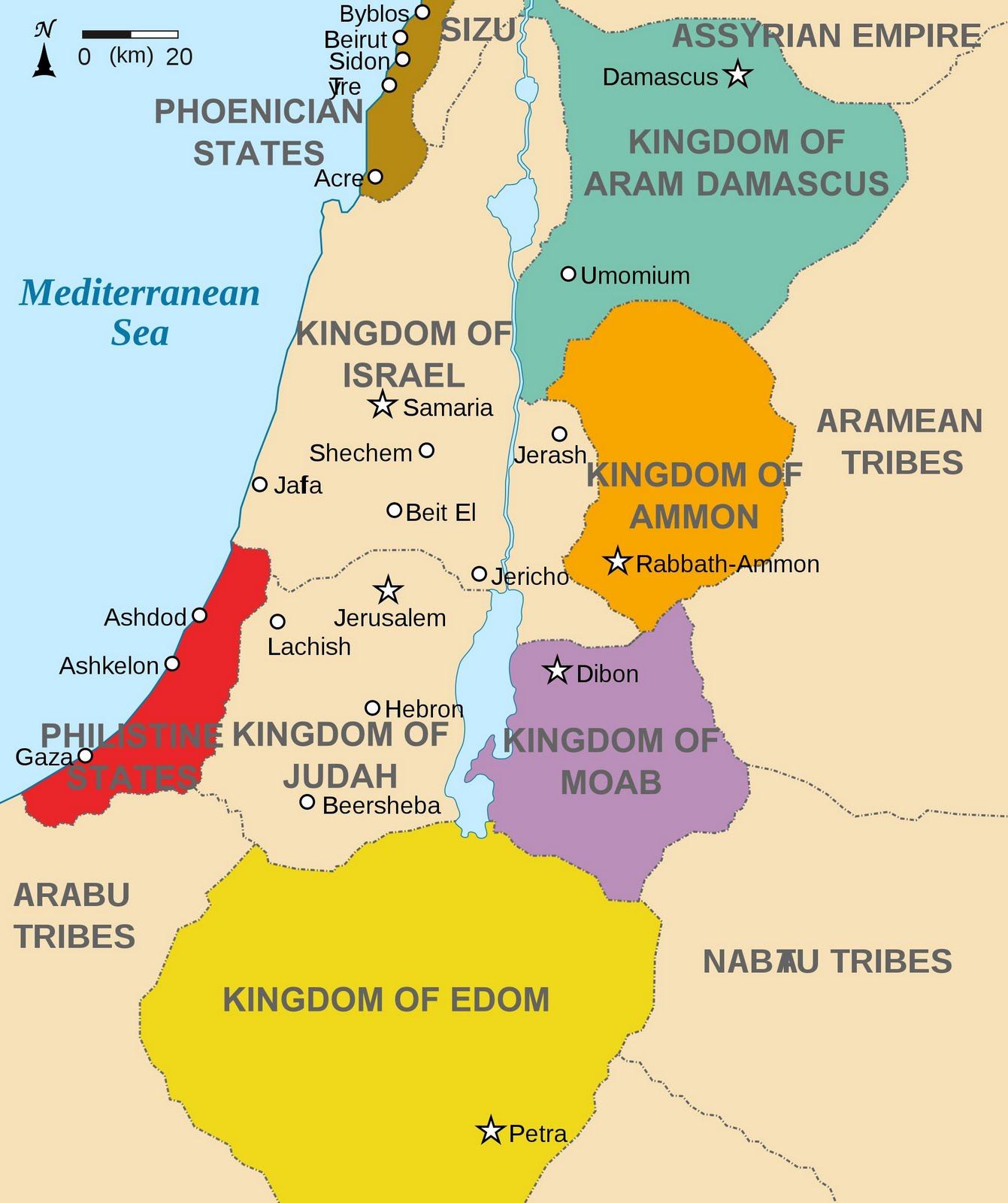 Map Bible Lands Today