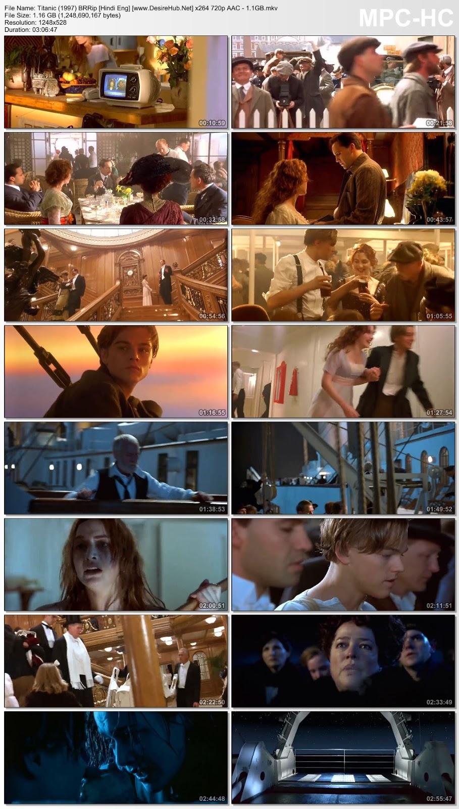 Titanic 1997 Dual Audio Hindi 720p BluRay 1.1GB Desirehub