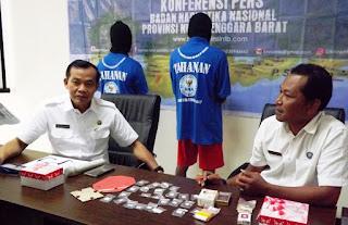 Mantap, BNN Kota Mataram Ciduk Dua Pengedar Ganja Sintetis