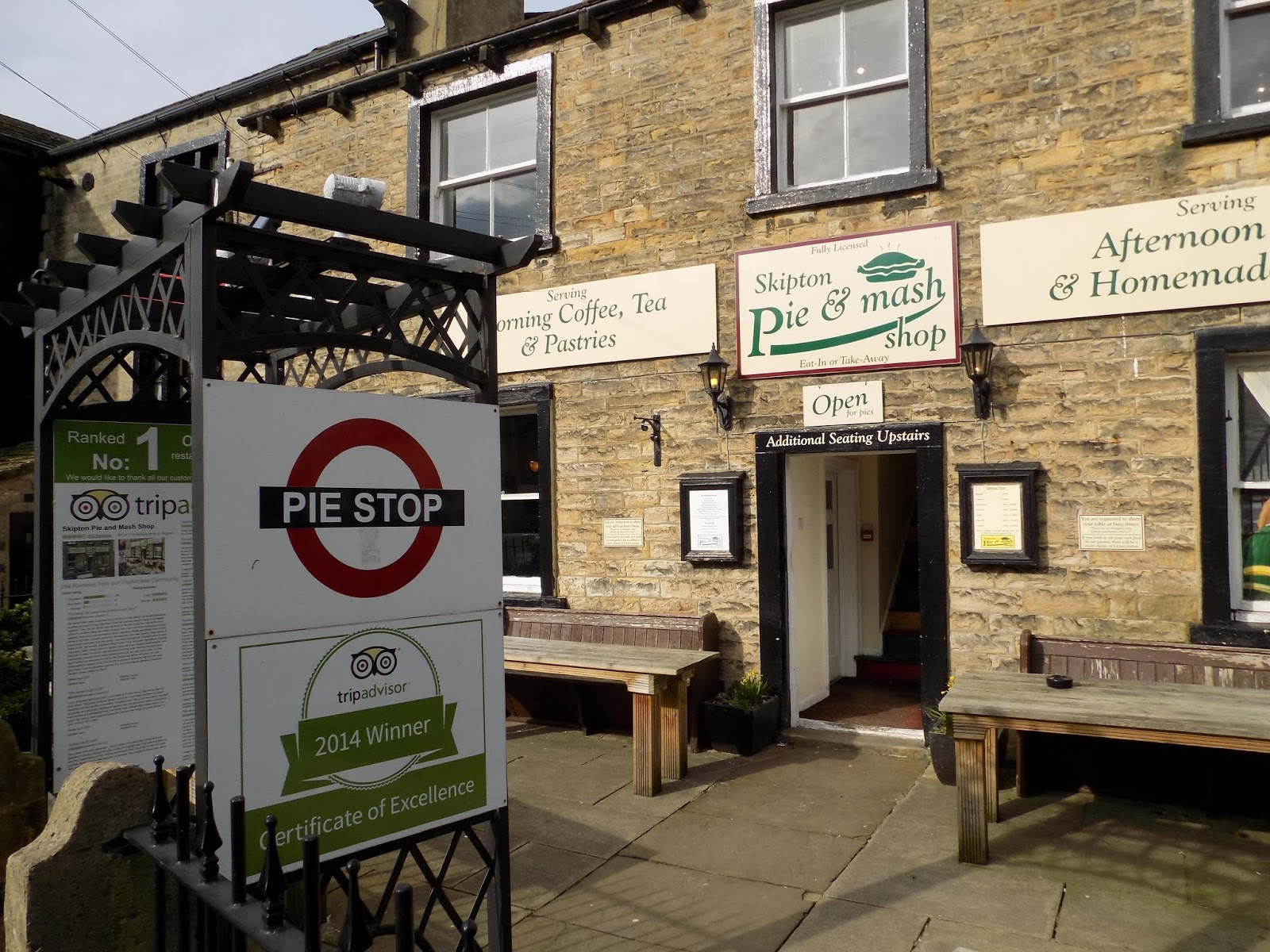 Skipton pie and mash shop