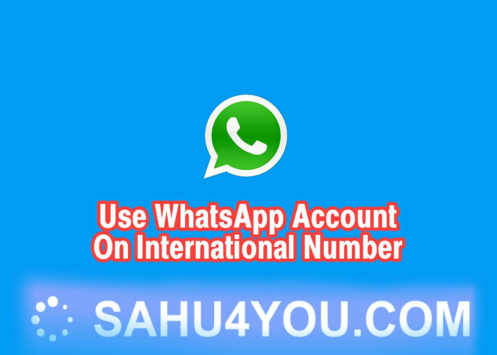 Create WhatsApp Account With International Number (100% Working Method)
