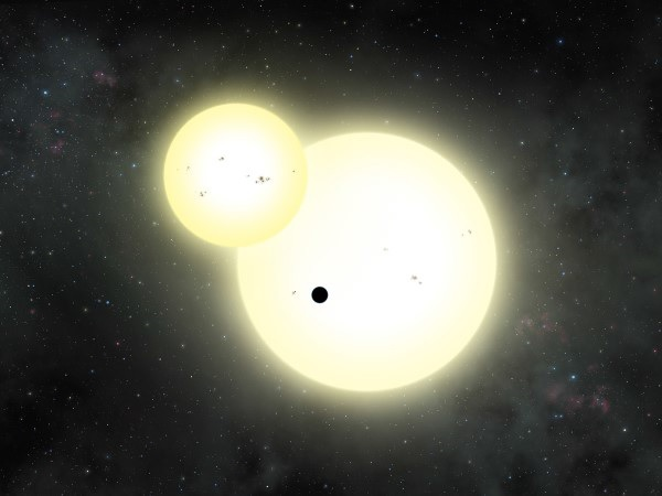 Kepler-1647b orbits a double star system