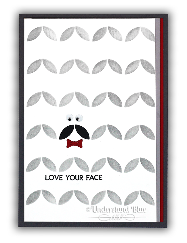 Mustache turnabout card