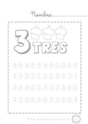 Números para repasar e imprimir