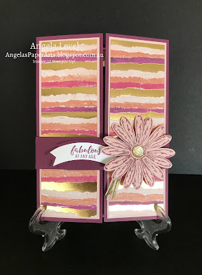Stampin' Up! daisy gatefold shutter card by Angela Lovel, AngelasPaperArts.blogspot.com.au