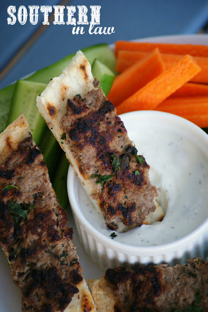 Lamb Kofta Pitas Recipe with Tzatziki Dipping Sauce - healthy, low fat, gluten free, high protein, clean eating recipe, nut free, egg free